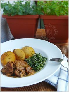 Bravčové pečené s mangoldom a novými zemiakmi