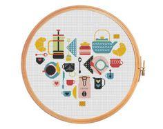 Sampler Heart USA Cross stitch pattern by PatternsCrossStitch