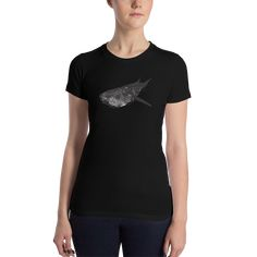 Women's Black Whale Shark T-Shirt Shark T Shirt, Bella Canvas, Sharks, One Pic, Whale, Tees, Sleeves, Cotton, Mens Tops