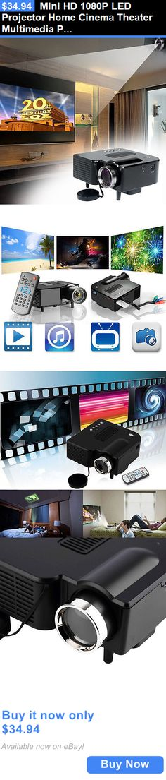 Home Audio: Mini Hd 1080P Led Projector Home Cinema Theater Multimedia Pc Usb Tv Av Hdmi Et BUY IT NOW ONLY: $34.94