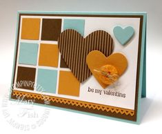 No frills Valentine's Card using P.S. I Love You.  Designed by Mary Fish, Independent Stampin' Up! Demonstrator. Details, supply list and more card ideas on http://stampinpretty.com/2012/02/masculine-valentine-card-for-my-hubby.html