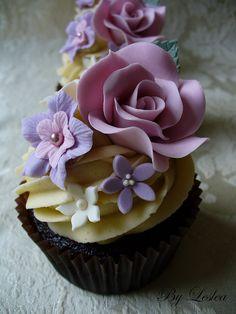 #Rose Cupcake - Vintage style