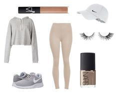 """""""NUDE BUT GREY"""" by dorothablog on Polyvore featuring moda, Faith Connexion, NIKE i NARS Cosmetics"""