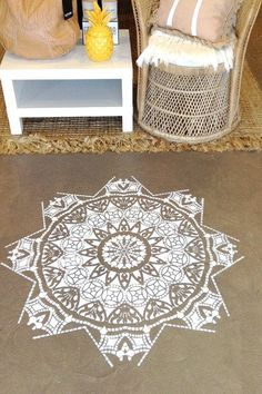 d74fe6cdb3d12f Shop these mandala stencils and other bohemian home decor in store at White…
