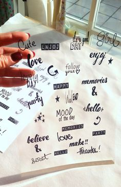 FREE printable planner stickers - handwritten font ⋆ Paper and needle