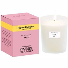 Renowned designer & perfumer Francis Kurkdjian has put his talents to work with Papier d'Arménie® to create the Rose candle, which will imbue interiors with an intoxicating fragrance.