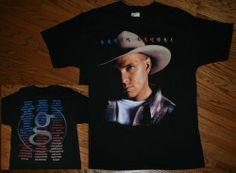 Vintage Garth Brooks Fresh Horses Concert Tour 90's T-Shirt  Adult Large-cowboy