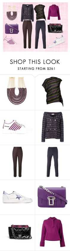 """Fab,,..."" by monica022 ❤ liked on Polyvore featuring Rosantica, 08 Sircus, Dsquared2, Faith Connexion, Andrea Marques, Dondup, Golden Goose, Proenza Schouler, Chanel and Lilly Sarti"