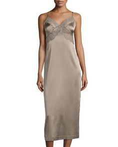 LA PERLA Magnolia Lace Trim Silk Nightgown Coffeemilk $340 IN STORE OR FREE SHIPPING (Compare other stores at $370) Buy here in Los Angeles or we will ship entirely FREE Worldwide * GET 20% OFF! Enter Promo Code PINTEREST at Checkout