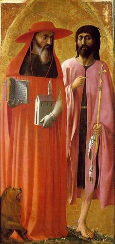 St Jerome and St John the Baptist by Masaccio, 1428