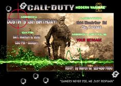 Call of duty black ops party favors favors birthdays and zombie party call of duty birthday party call of duty modern warfare 2 black ops birthday party filmwisefo Image collections
