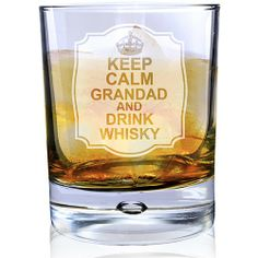 Personalised Keep Calm Whisky Bubble Glass  from Personalised Gifts Shop - ONLY £14.99