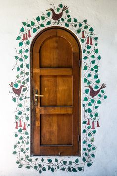 decorated doorway, Santiago, Chile