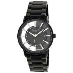 Kenneth Cole Men's Newness Black Stainless Steel Black Dial Quartz Watch - Free Shipping Today - Overstock.com - 15148482 - Mobile