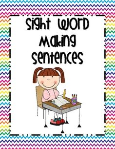 $2.50 - Students put the word cards in order to make sentences. Can be played whole group or in stations. Students can write the sentences, as well.