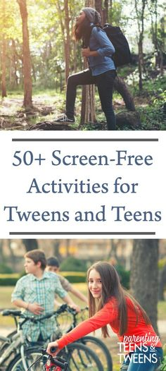 50  Screen-Free Activities for Tweens and Teens #teens #tweens #screenfreeactivities #screenfree #TeenActivities #TweenActivities #TeenTechFreeActivities #NoTechActivities #ParentingTeens #RaisingTEens #SummerActivitiesforTeens Parenting Articles, Parenting Books, Parenting Teens, Summer Activities For Teens, Free Activities, Kids Fun, Summer Kids, Screen Time For Kids, Funny Jokes For Kids