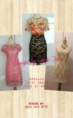 Brocade and lace medium dress by Anne Tam