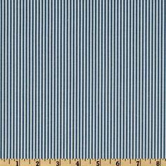 Magnolia Home Fashions Oxford Stripe Sailor Blue - Discount Designer Fabric - Fabric.com