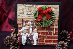 Tim Holtz Christmas Cards | Tim Holtz Rosette