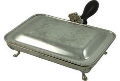 Silverplate Silent Butler. I love silent butlers. I have had the good fortune of finding two of these at garage sales. Beautiful and functional. And yes I use them.