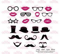 Laser Cut Wooden Shapes Stencils Qual... Glasses Moustaches /& Bowler Hats