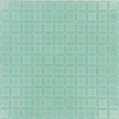 "ISI  Sea Glass Tiles, 1"" x 1"", Aqua, Glossy, Aqua, Glass"
