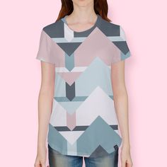 Discover «Scandi Waves», Numbered Edition Women's All Over T-Shirt by DesigndN - From 37€ - Curioos