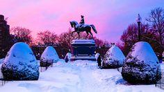 February in Boston