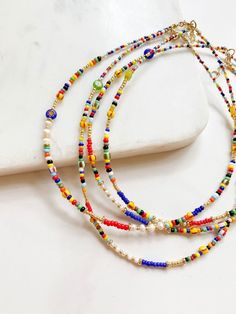 Seed Bead Jewelry, Bead Jewellery, Cute Jewelry, Beaded Jewelry, Jewelery, Jewelry Necklaces, Beaded Bracelets, Jewelry Ideas, Seed Bead Necklace