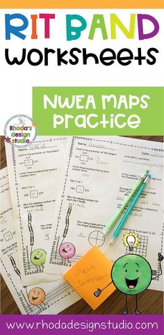 NWEA MAP task cards that can be used for test prep or math interventions. These task cards cover Numbers and Operations, Measurement and Data, Algebraic Thinking and Geometry. Skills are for the NWEA RIT Band These can be used as bell work, dail Math Practice Worksheets, Math Resources, Math Activities, Classroom Resources, Map Math, 2nd Grade Math, Second Grade, Fourth Grade, Math Task Cards