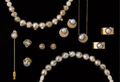 Des perles gravés et montées en bijoux par Korat Works, une artiste japonaise.