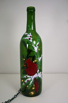 Wine bottle with lights - cute decor