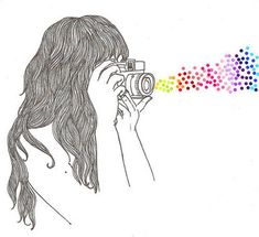 Drawings and photography combined