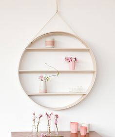 Bride & Wolfe – Circle Shelf White Ash  • Available at thebigdesignmarket.com