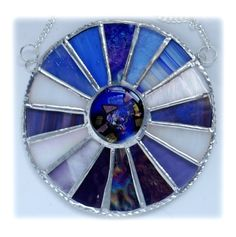 Winter Solstice Suncatcher Stained Glass Handmade  Wall Window decoration £20.00