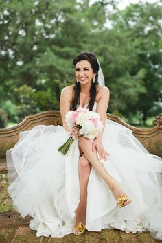 """""""I started my search [for wedding shoes] at the mall, and everything I found seemed to be more like what you would wear to prom than what you would wear for your wedding day."""