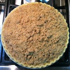 Apple Pie with Crumb Topping. It's in the oven. Can't wait to dig in with some pumpkin ice cream!