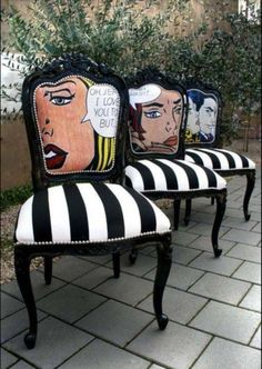 Lichtenstein inspired chairs