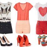 Me veo este verano con un pantalón corto, una blusa cómoda y tacos altos. ¿Cómo crear combinaciones diferentes con colores alegres? Bueno aquí me preparé una guía que les quiero compartir para que tengan algunas ideas a la hora de vestir este verano.