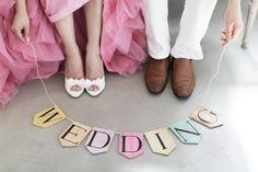 プレミアムフォトウェディングのStrawberryPictures - Props:木製Weddingガーランド