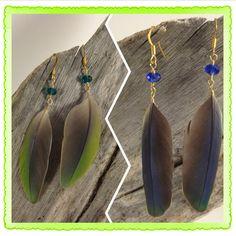 Natural Kauai Parakeet Parrot Feather by HummingBirdCorner on Etsy, $12.00