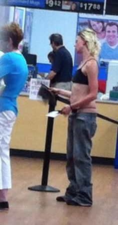 Sagging Pants at Walmart No Longer Just a Men Fashion Fail - No Way Girl - Funny Pictures at Walmart