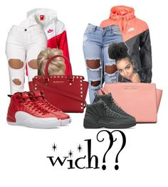 """""""what would yhu wear? comment"""" by lovermonster ❤ liked on Polyvore featuring NIKE and MICHAEL Michael Kors"""