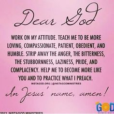 Dear God, I need to think about this more often!