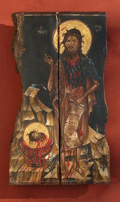 "Byzantine icon of ""Saint Ioannis Prodromos"" Greek Icons, Byzantine Icons, Orthodox Icons, Great Love, Decoupage, Saints, Hand Painted, Unique, Handmade"