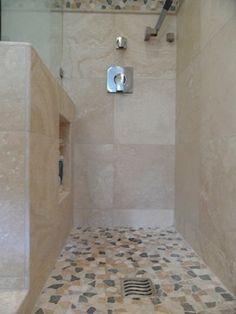pony wall shower niche