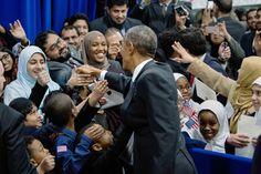 Obama in Mosque Visit Denounces Anti-Muslim Bias