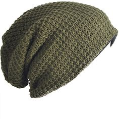Mens Slouchy Long Beanie Knit Cap for Summer Winter Oversize (B09-Brown) at Amazon Men's Clothing store: