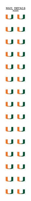 University of Miami Nail Sticker Decals