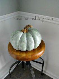 Faux heirloom pumpkin